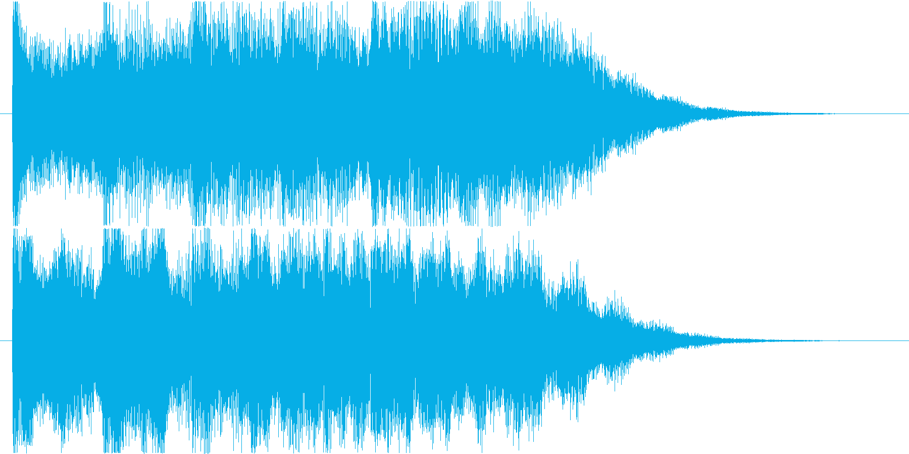 ゲームオーバーのジングルですの再生済みの波形