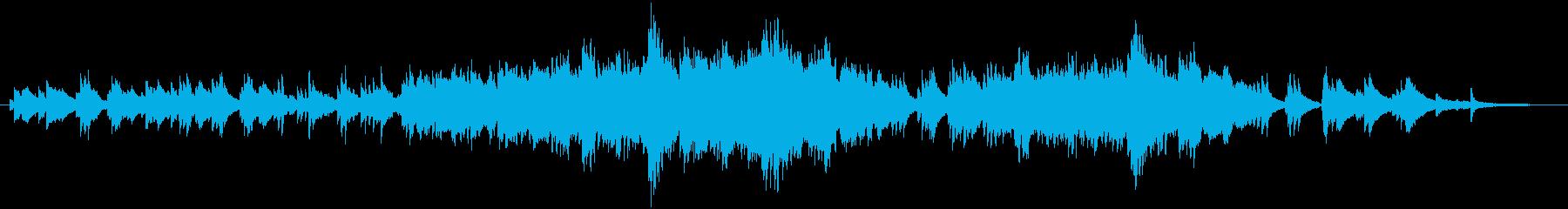 ピアノと弦のバラードです。の再生済みの波形