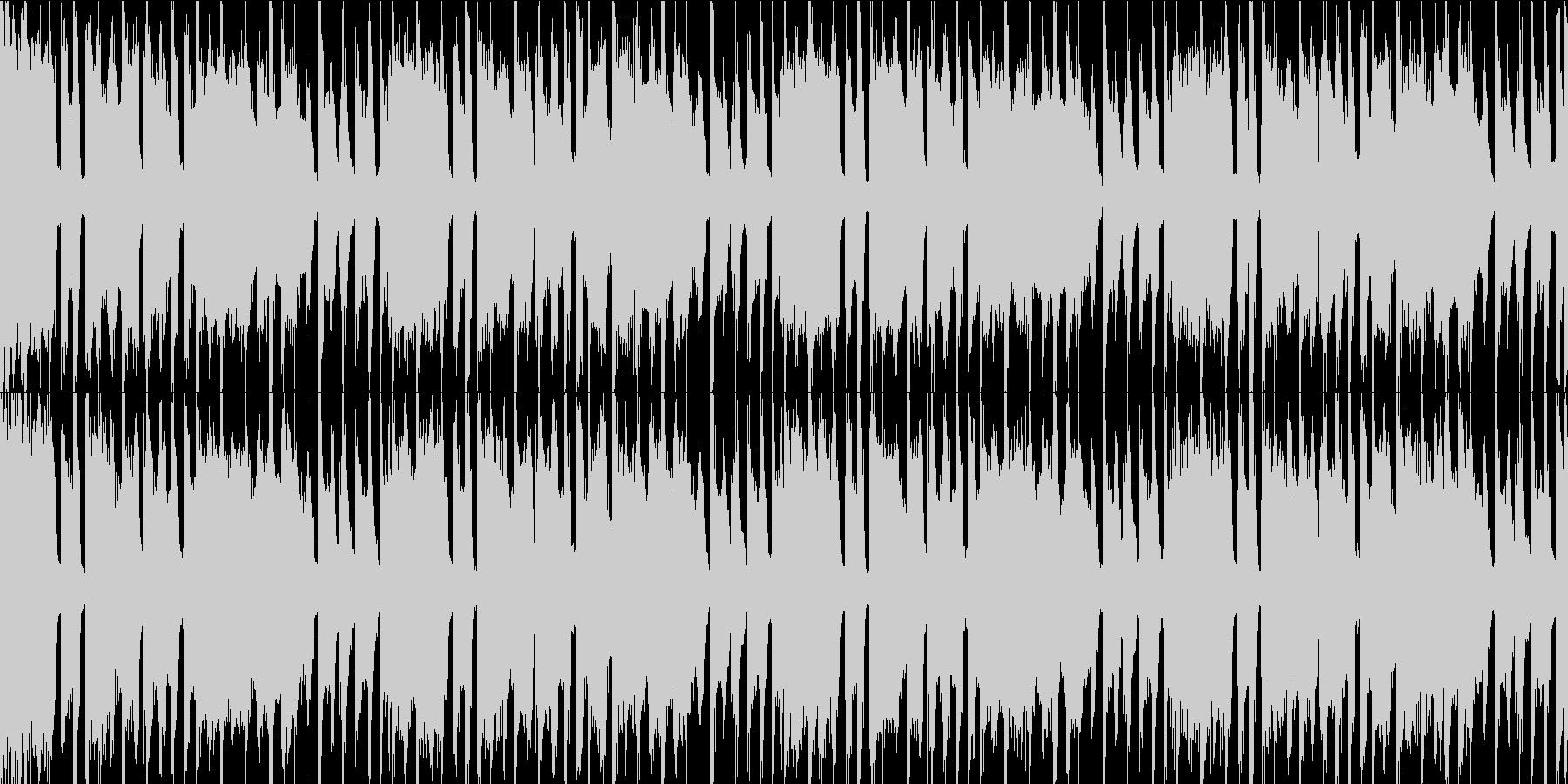 POPで軽快な四つ打ちBGMの未再生の波形