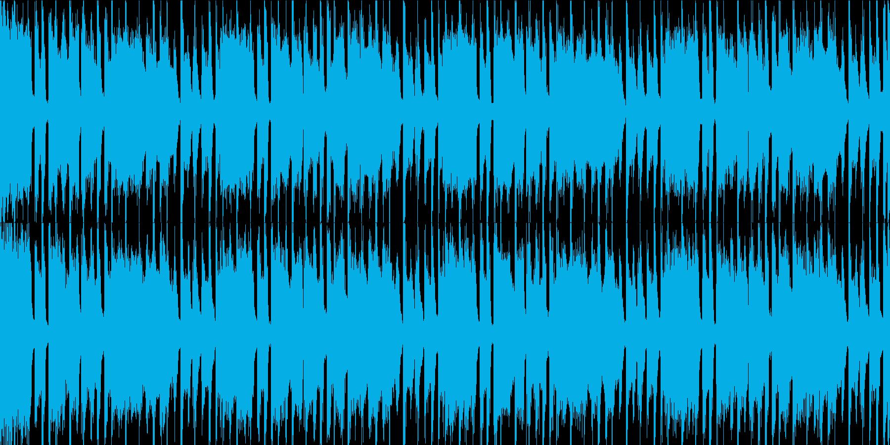 POPで軽快な四つ打ちBGMの再生済みの波形