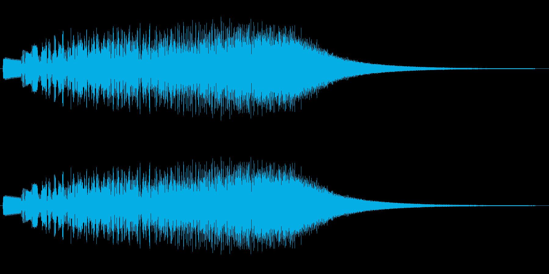ハーブをなぞるようにひいた天国感の音の再生済みの波形