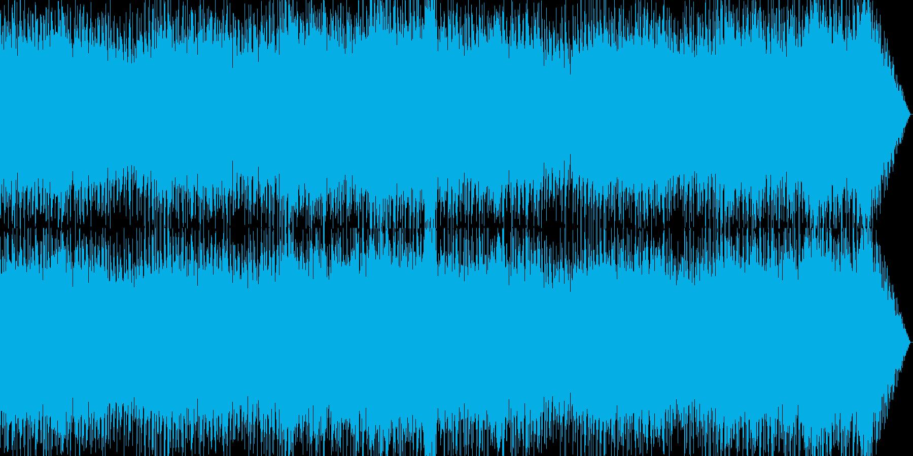 軽快ポップなゲームBGM系インストの再生済みの波形