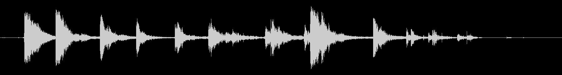 カランカラン空き缶が転がる音の未再生の波形