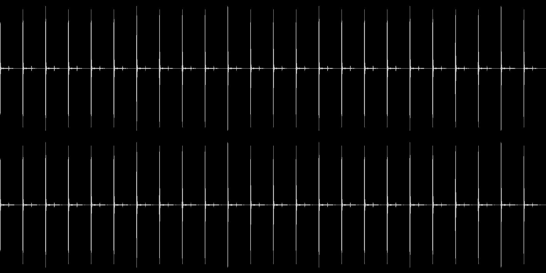 カッチカッチ…アナログ時計(ループ)の未再生の波形