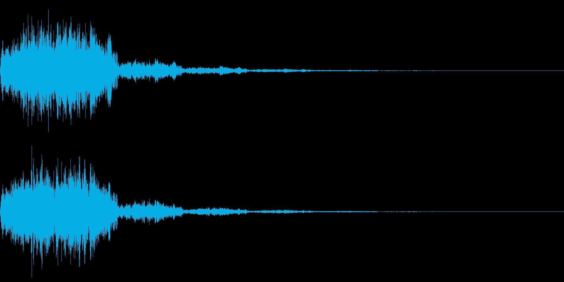 決定音(ゲームタイトル画面の決定音音)の再生済みの波形