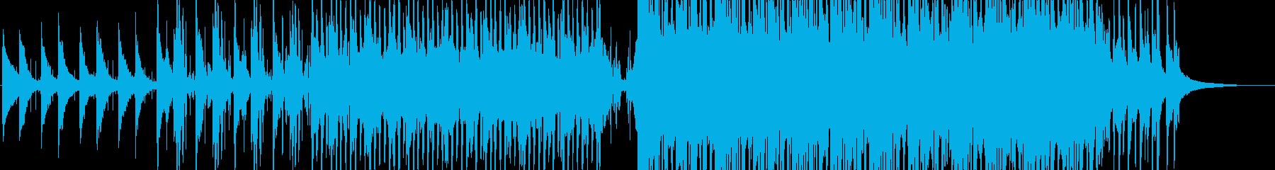 アンビエントな雰囲気のミニマルなピアノ曲の再生済みの波形