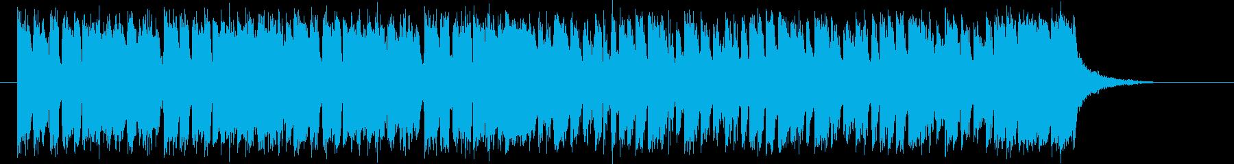 ギラギラした懐かしいシンセサイザーの曲の再生済みの波形
