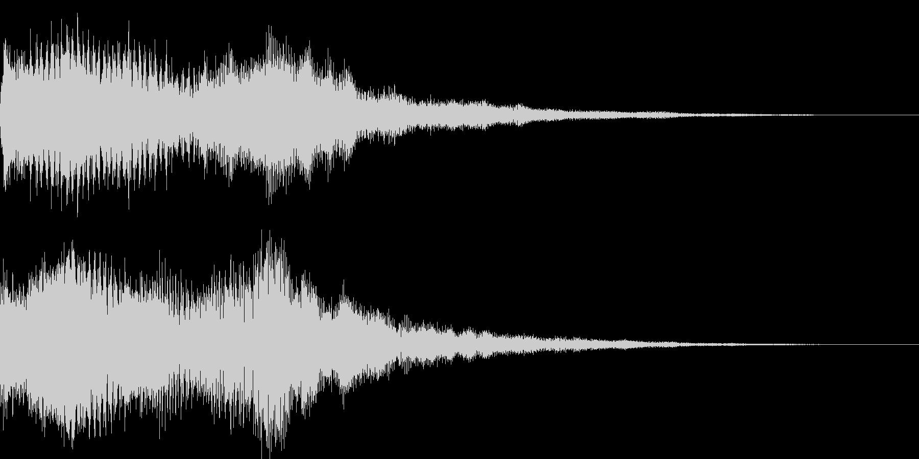 選択音 - 1 ゲームタイトル画面などの未再生の波形