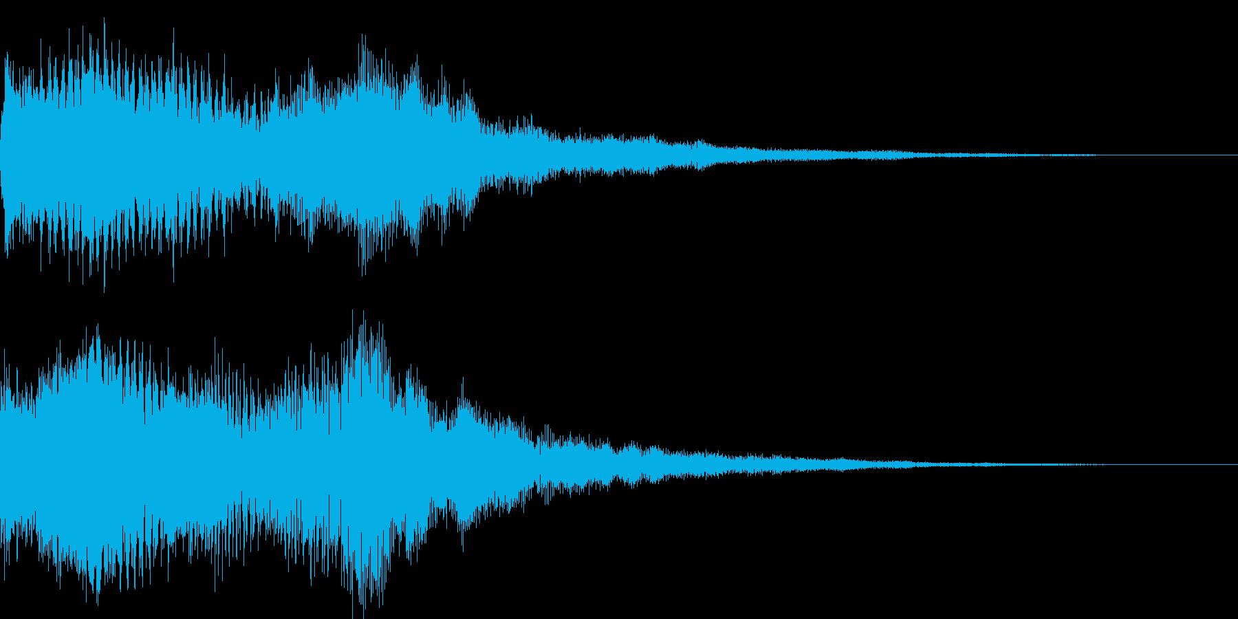 選択音 - 1 ゲームタイトル画面などの再生済みの波形