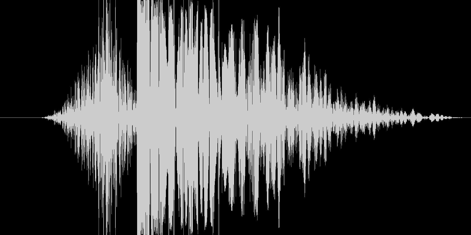 【いわゆるパンチ音】よく聞くあの感じの未再生の波形