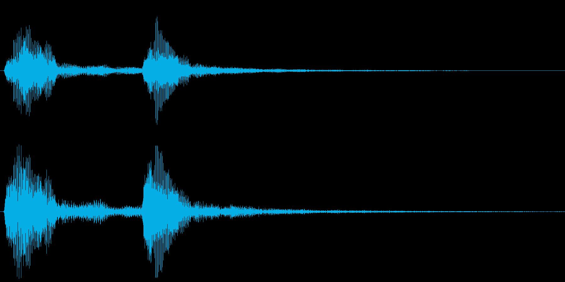 チャンチャン・オチの音(中)の再生済みの波形