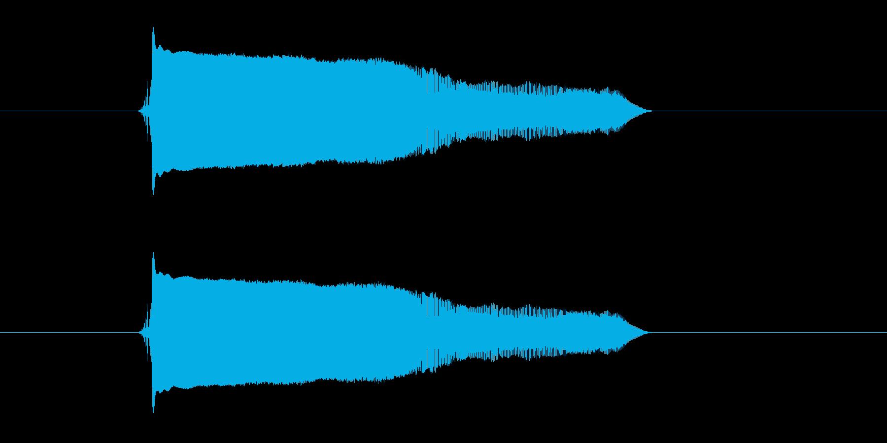 キュワーン(落下、縮小)の再生済みの波形