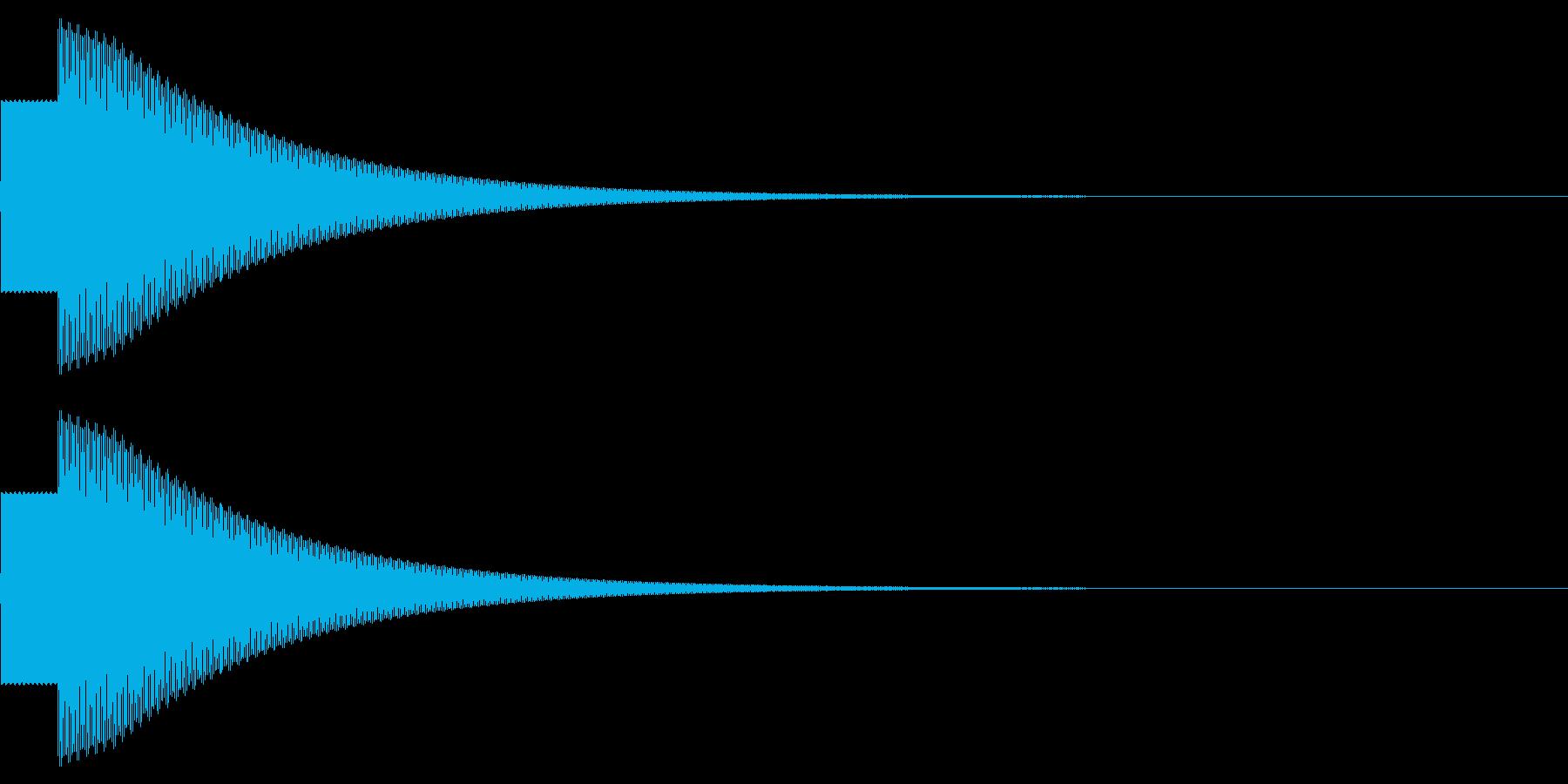 クイズに正解! ピンポンの再生済みの波形