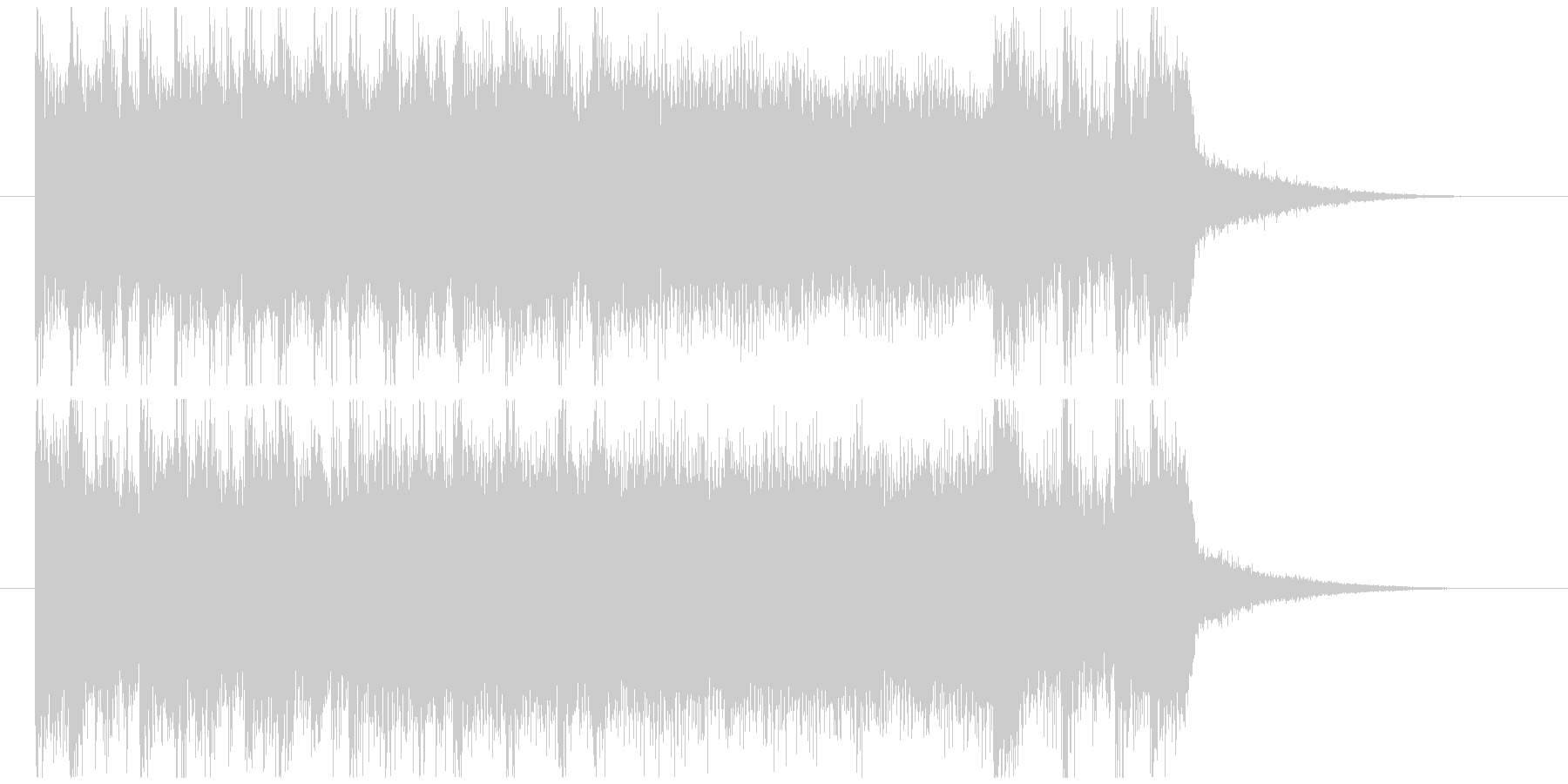 凶悪なハードコアのキメ ジングルの未再生の波形