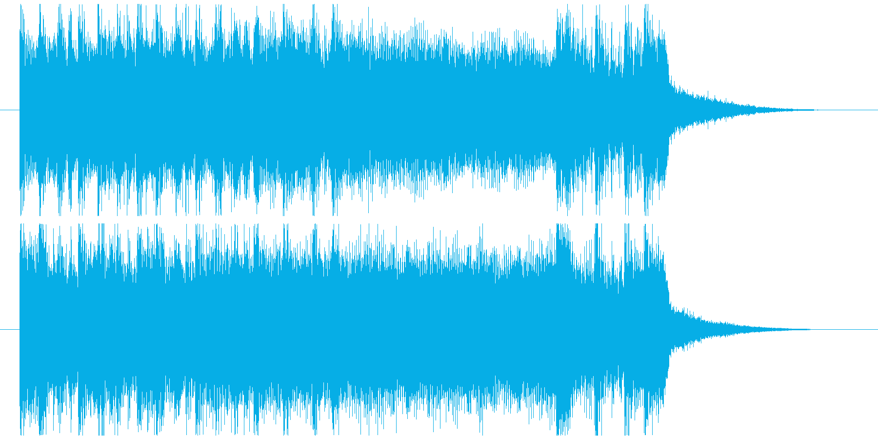 凶悪なハードコアのキメ ジングルの再生済みの波形