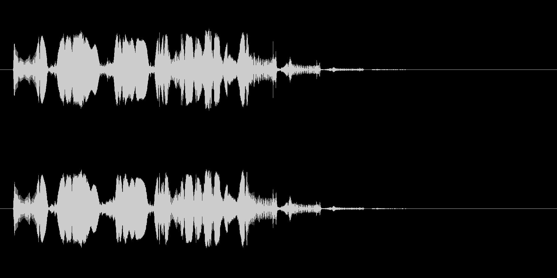 【SE 効果音】SF的な音の未再生の波形
