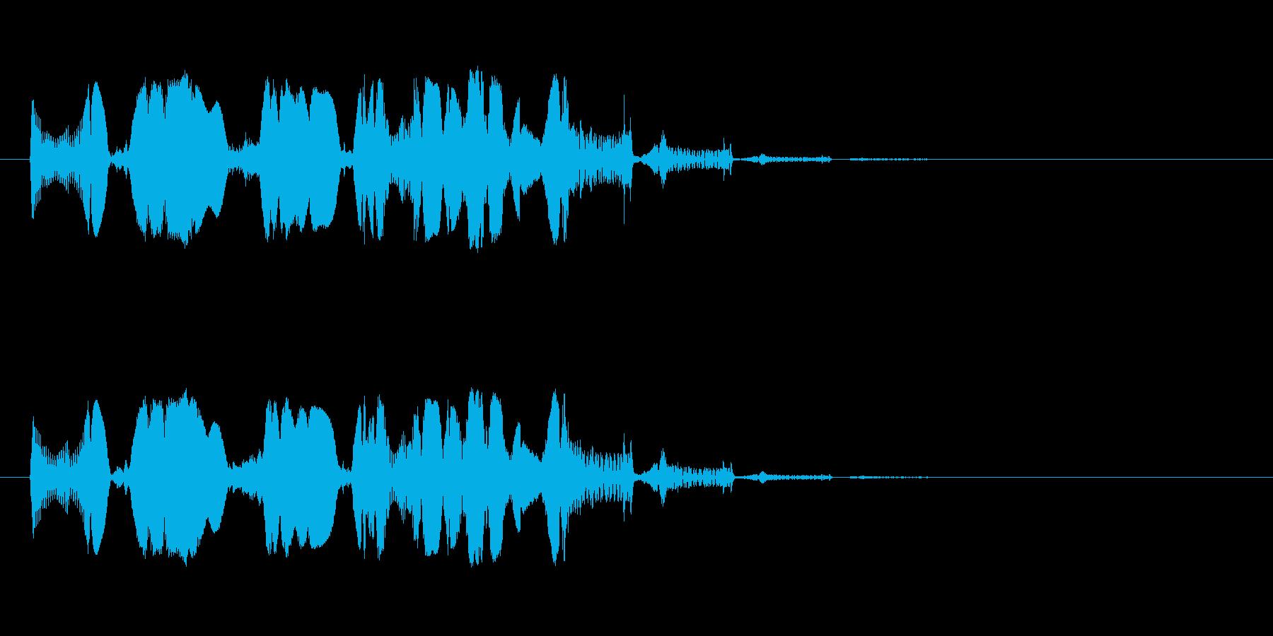 【SE 効果音】SF的な音の再生済みの波形