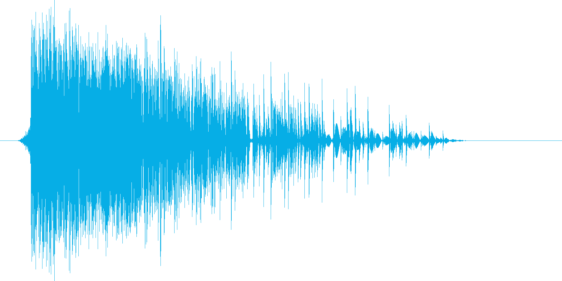 ゲーム(ファミコン風)爆発音_038の再生済みの波形