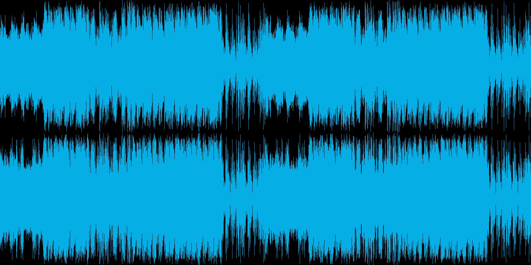 シリアスな宇宙っぽいエピックサウンドの再生済みの波形