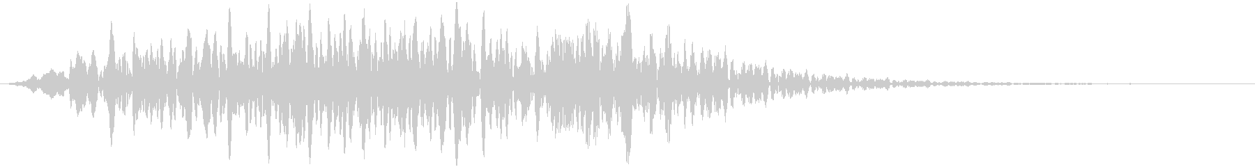 自然の音 風の未再生の波形