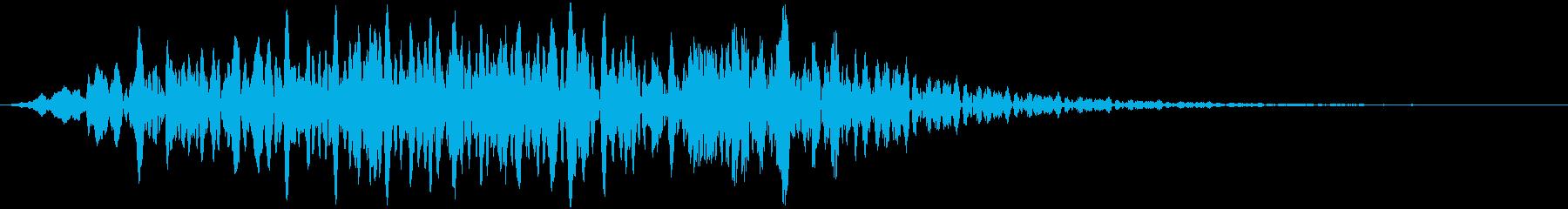 自然の音 風の再生済みの波形