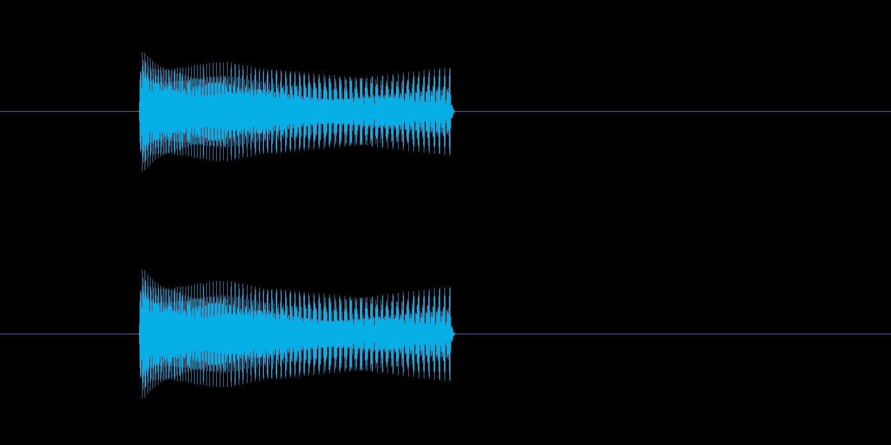ティロリーン↓というシンセの早い下降音…の再生済みの波形
