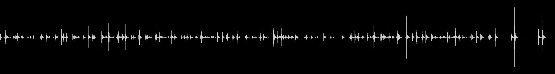キーボードでタイピングの未再生の波形