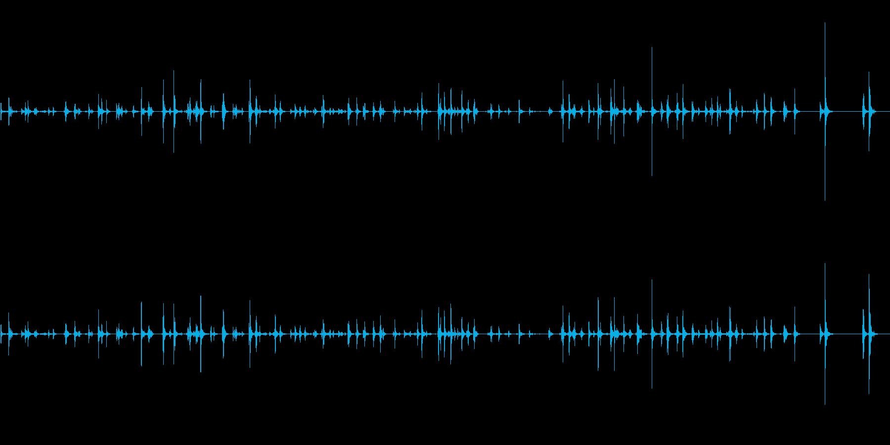 キーボードでタイピングの再生済みの波形
