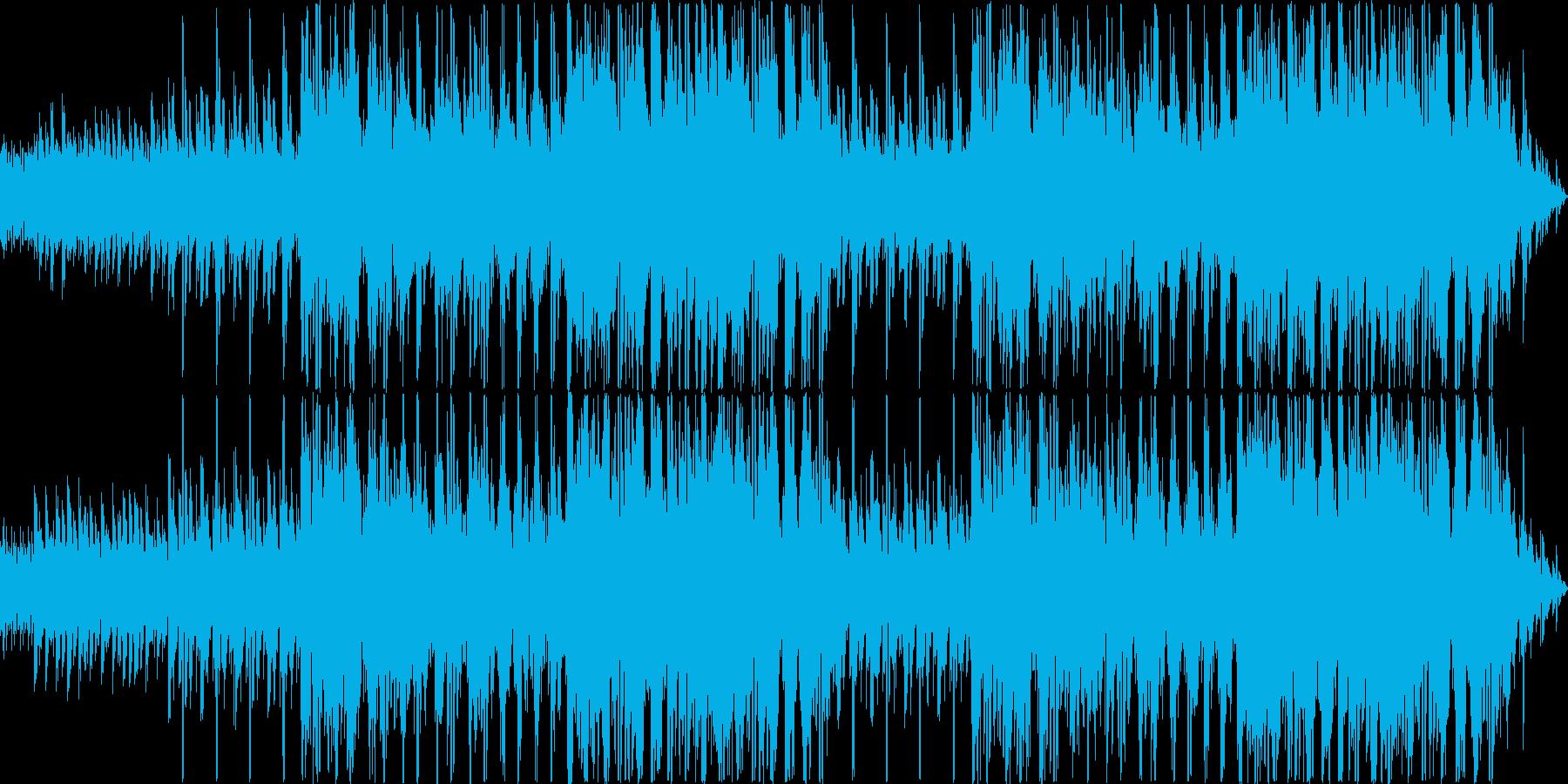 無機質な雰囲気のループ系インストの再生済みの波形