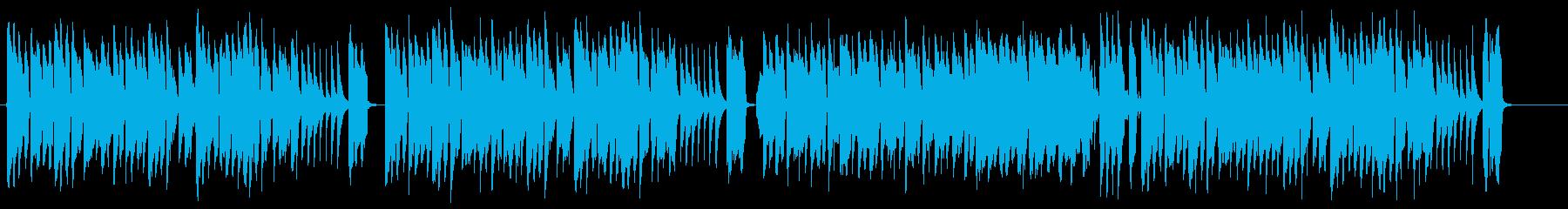 オモチャの楽器が奏でる、ほのぼのポップスの再生済みの波形