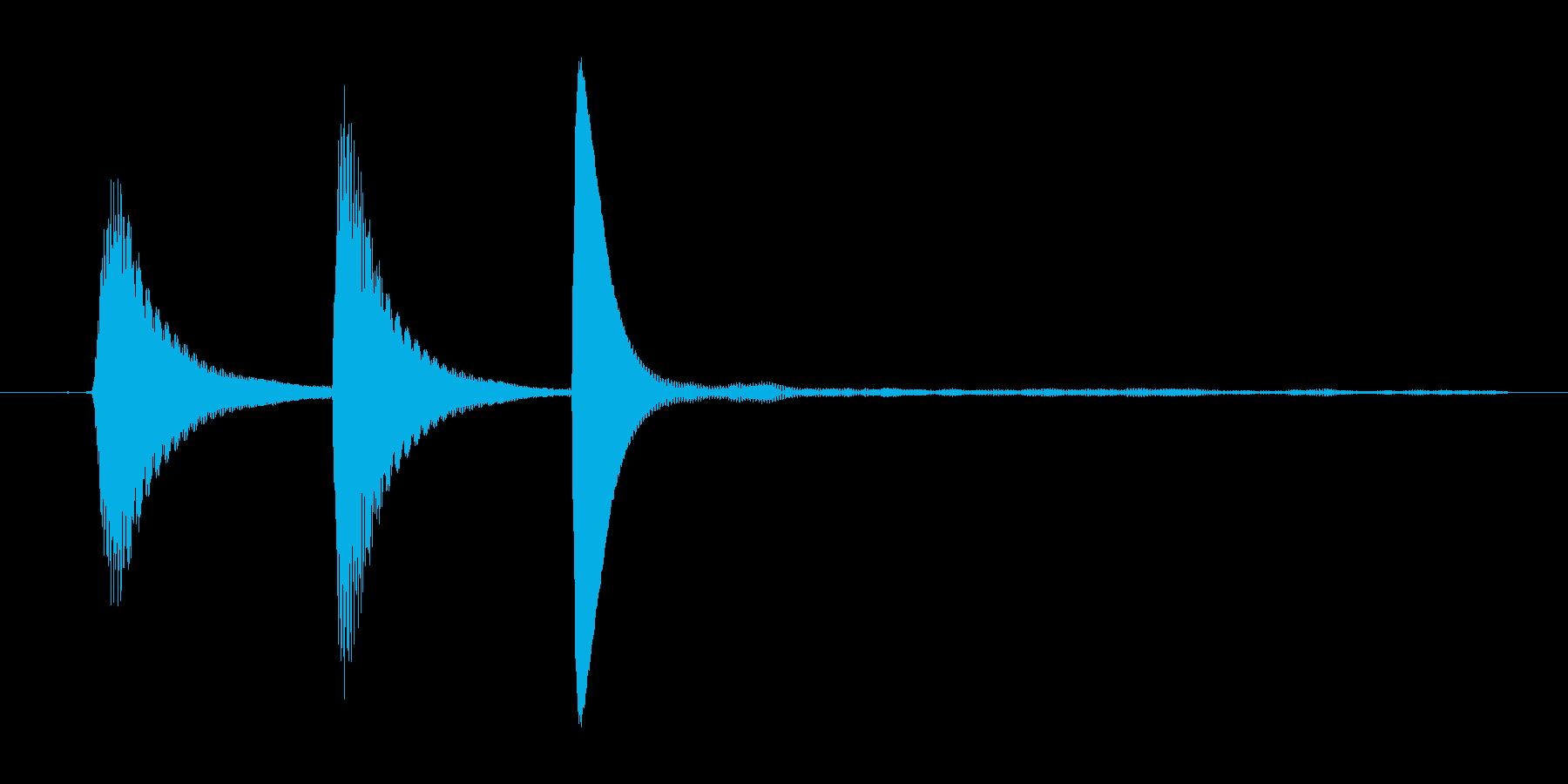 ポップアップ_決定音系_02の再生済みの波形