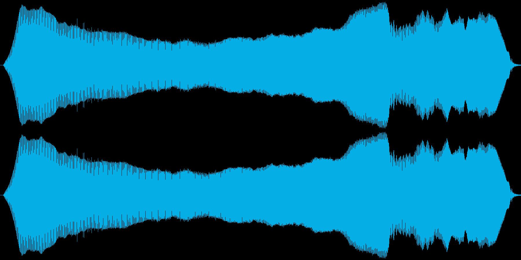 猫の鳴き声(ニャウ~ン)の再生済みの波形