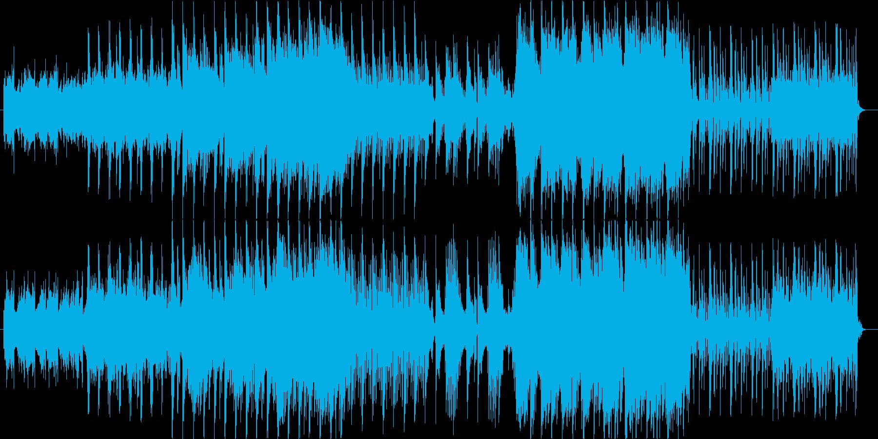 和テイストの幻想的なエレクトロニカの再生済みの波形