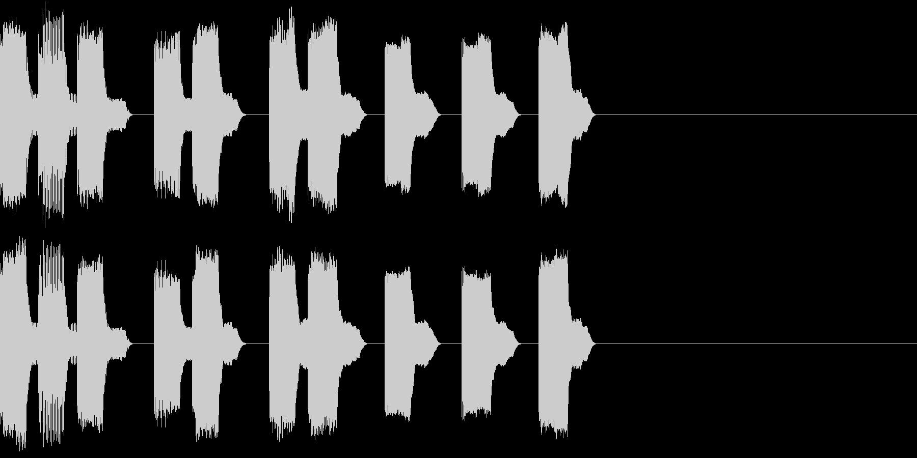 RetroGame 勝利した時の音の未再生の波形