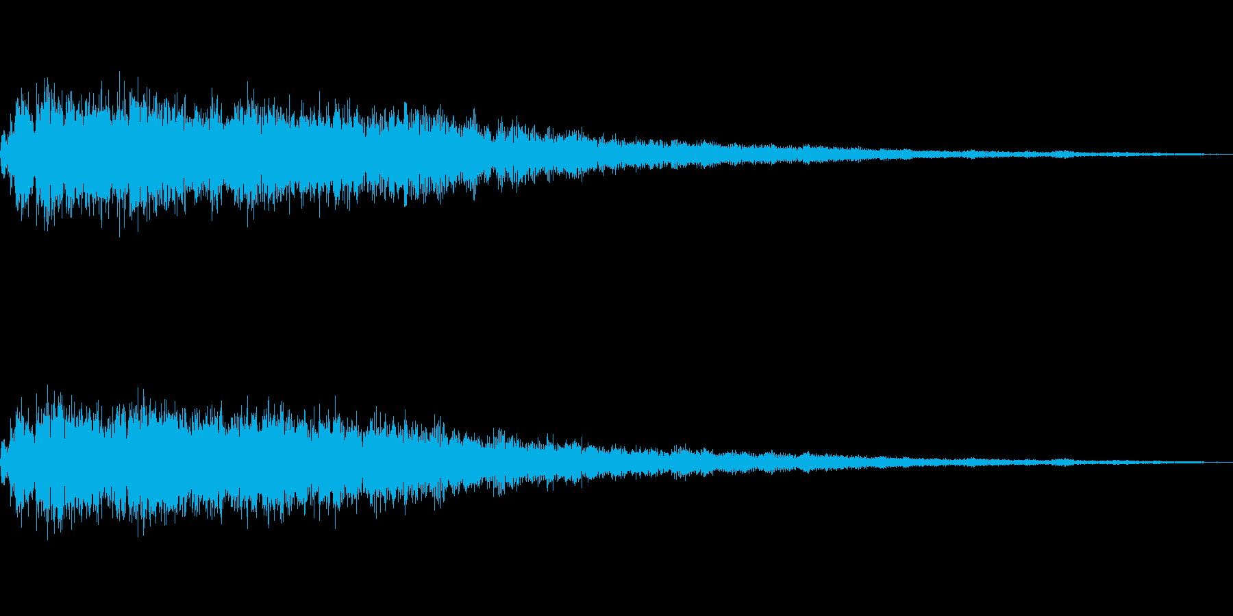 足元からゆっくり氷っていく音の再生済みの波形