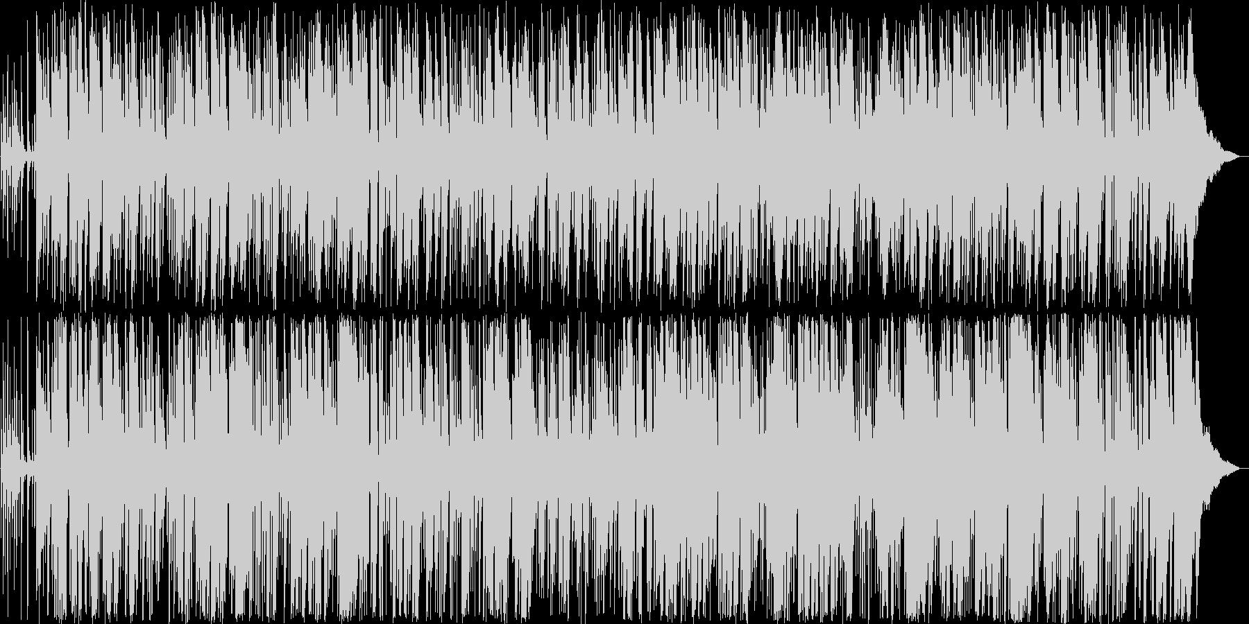 ジャズっぽいリズミカルな曲の未再生の波形