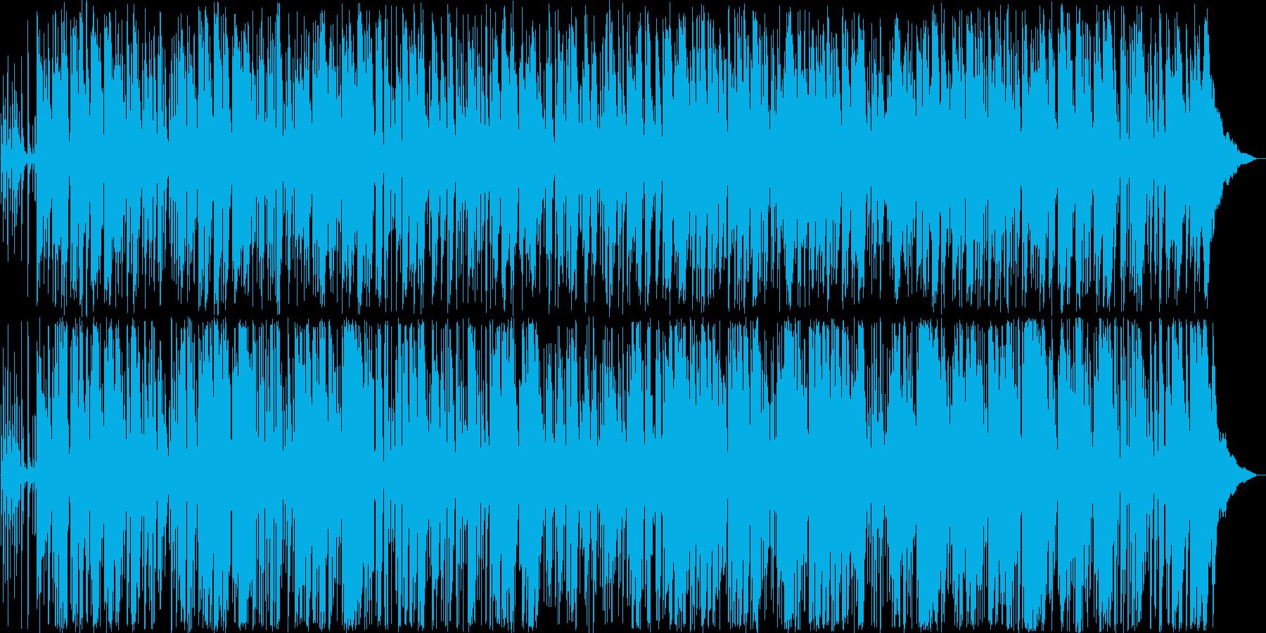 ジャズっぽいリズミカルな曲の再生済みの波形
