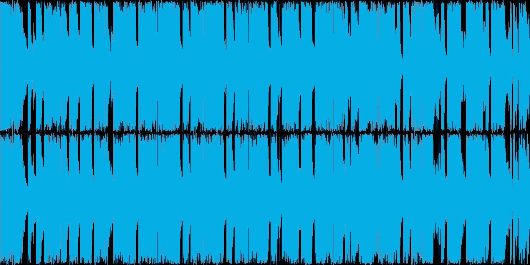 【ダークな雰囲気、ロックエレキギター】の再生済みの波形