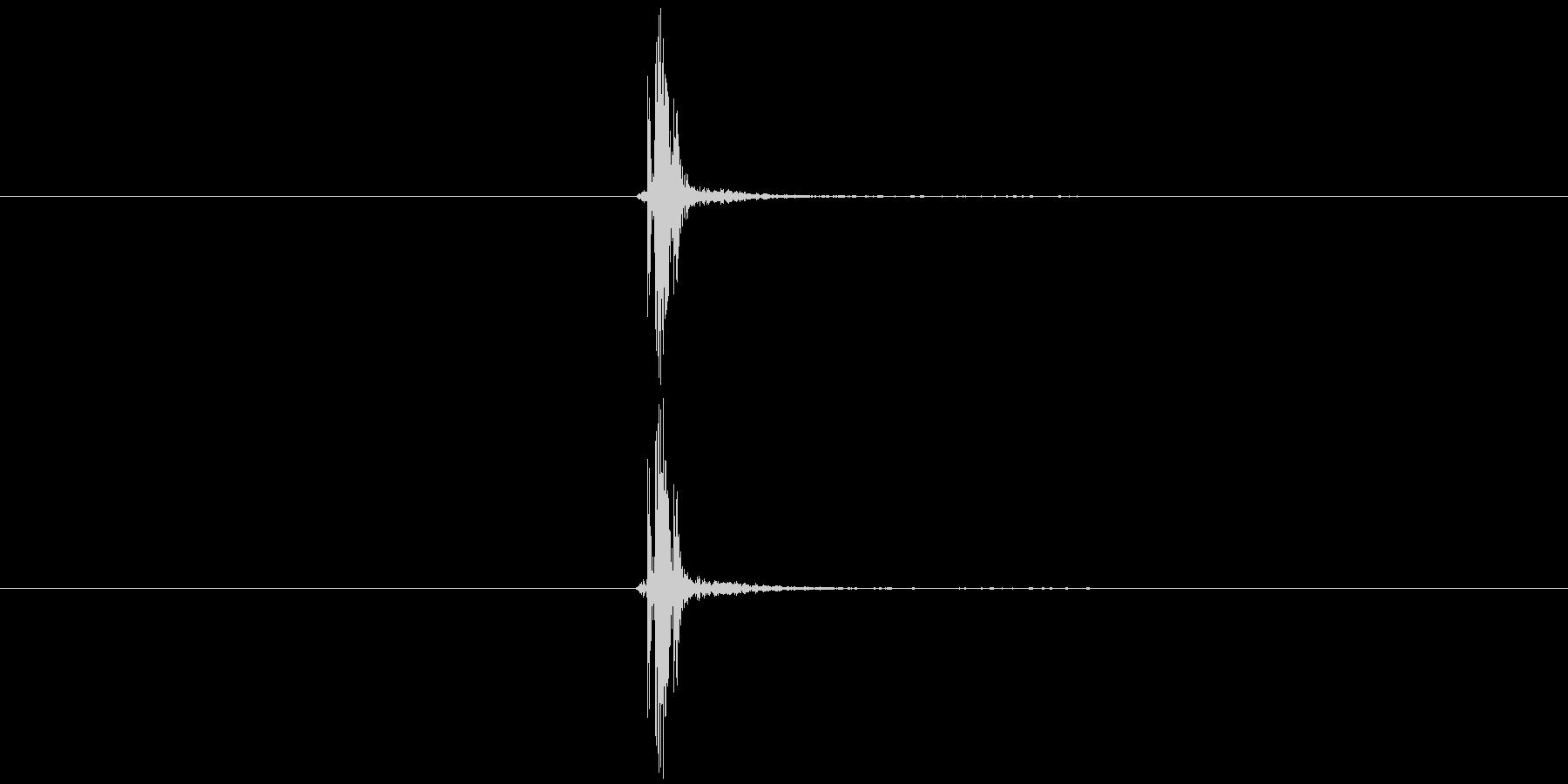 麻雀牌3の未再生の波形