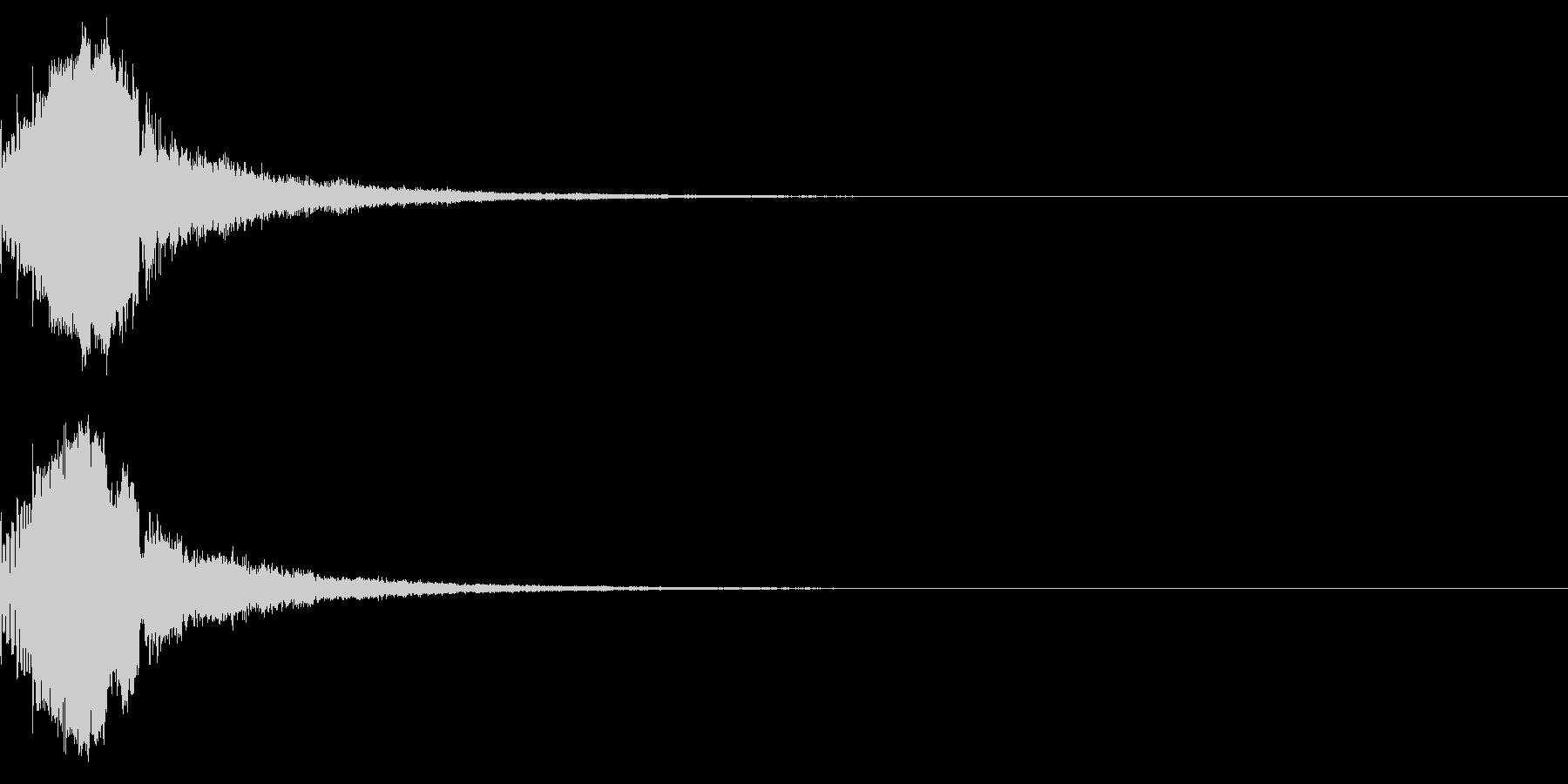 ピコッ(未来感のある決定音)の未再生の波形
