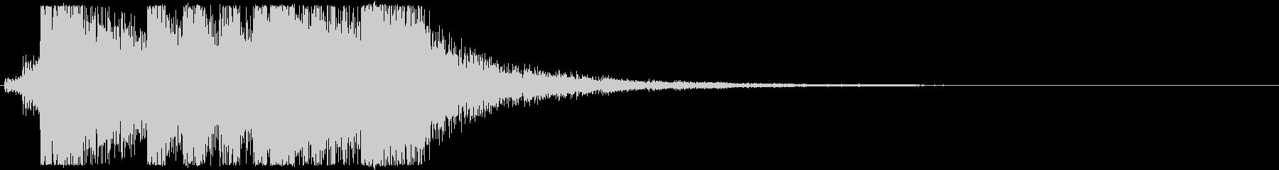 フルオーケストラのド派手なファンファーレの未再生の波形