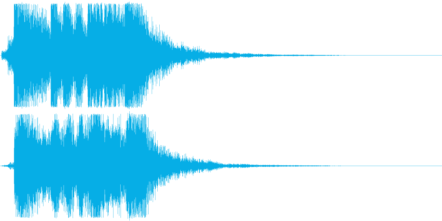 フルオーケストラのド派手なファンファーレの再生済みの波形