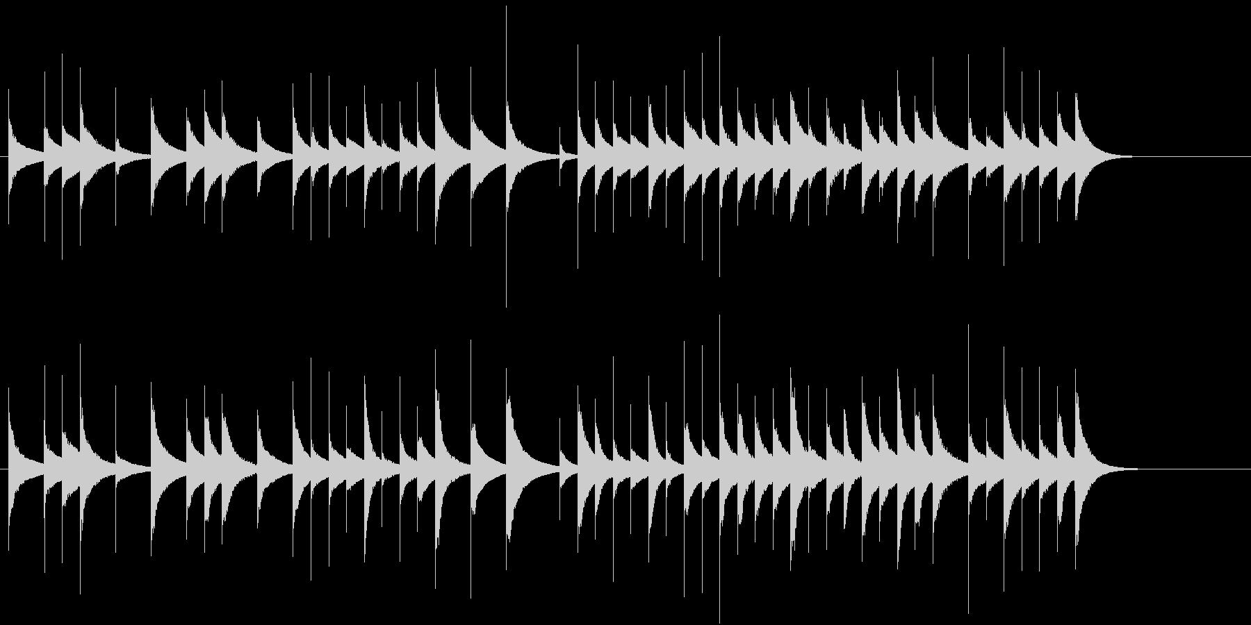短めのオルゴール曲の未再生の波形