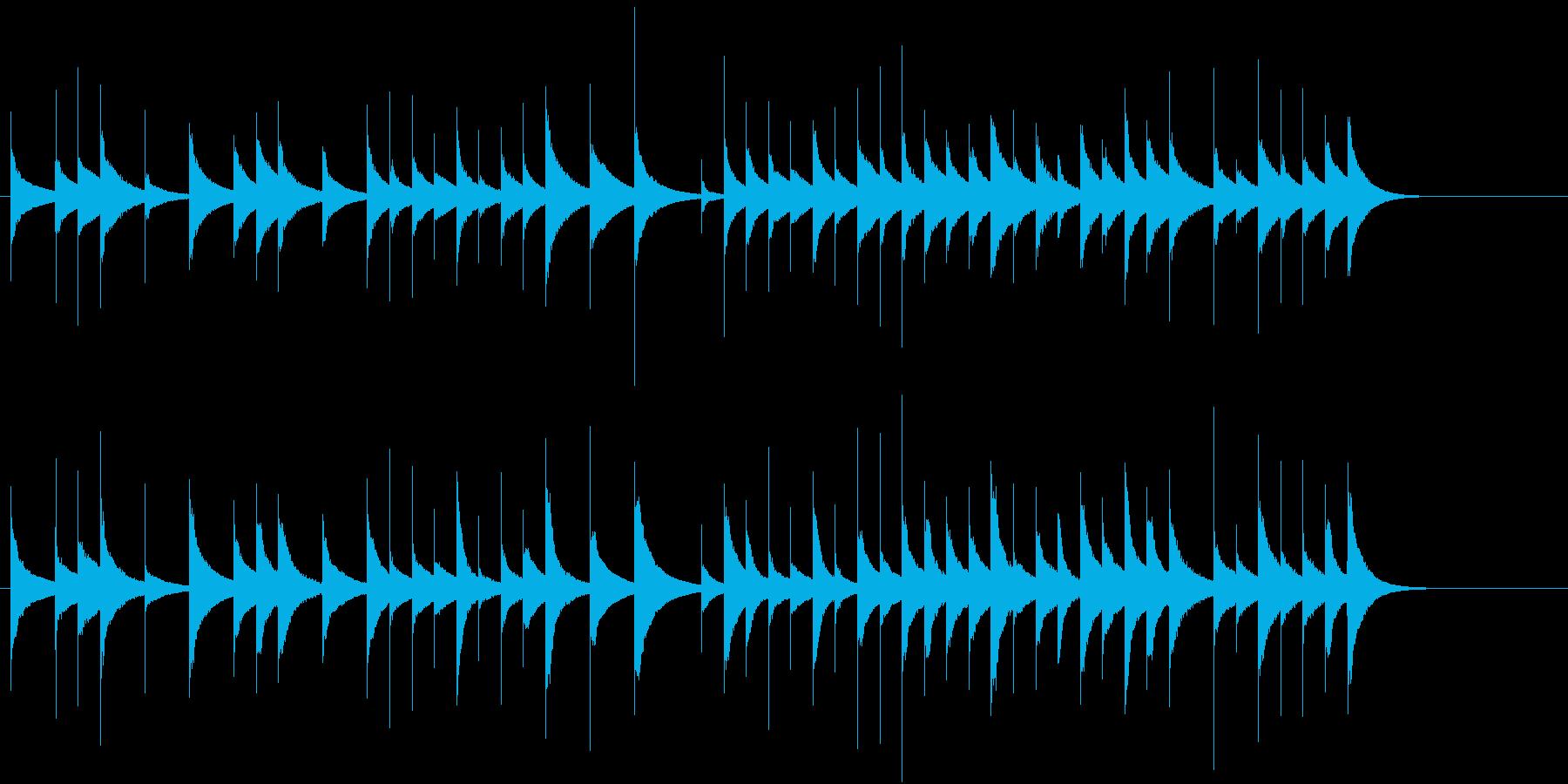 短めのオルゴール曲の再生済みの波形