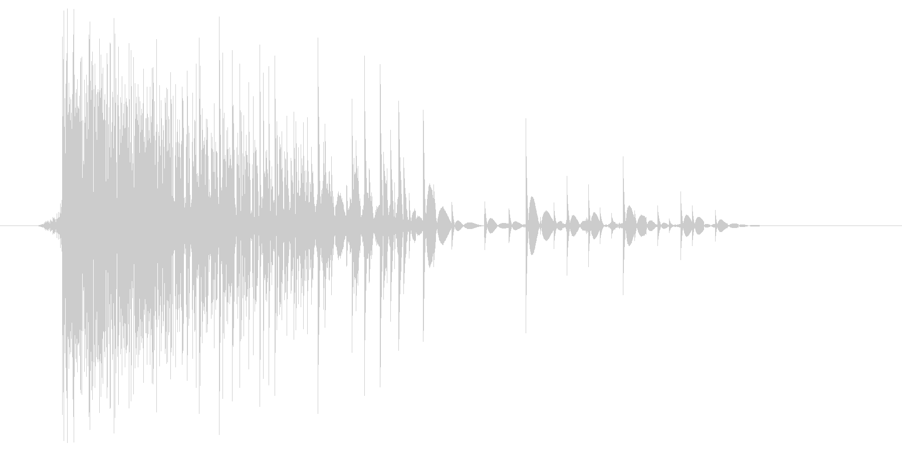ゲーム(ファミコン風)爆発音_034の未再生の波形