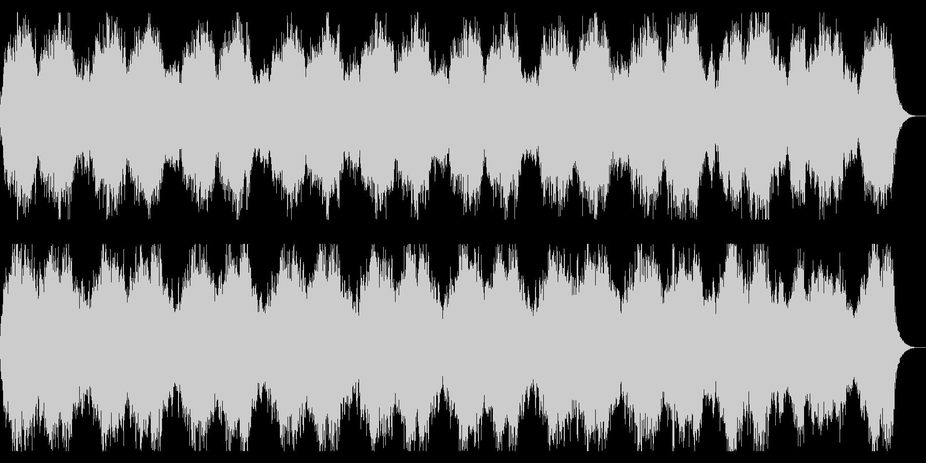 淡々としたダークな背景、緊迫感あるBGMの未再生の波形