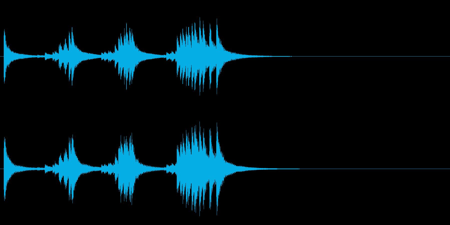 小型の鐘「本つり鐘」のフレーズ音4の再生済みの波形