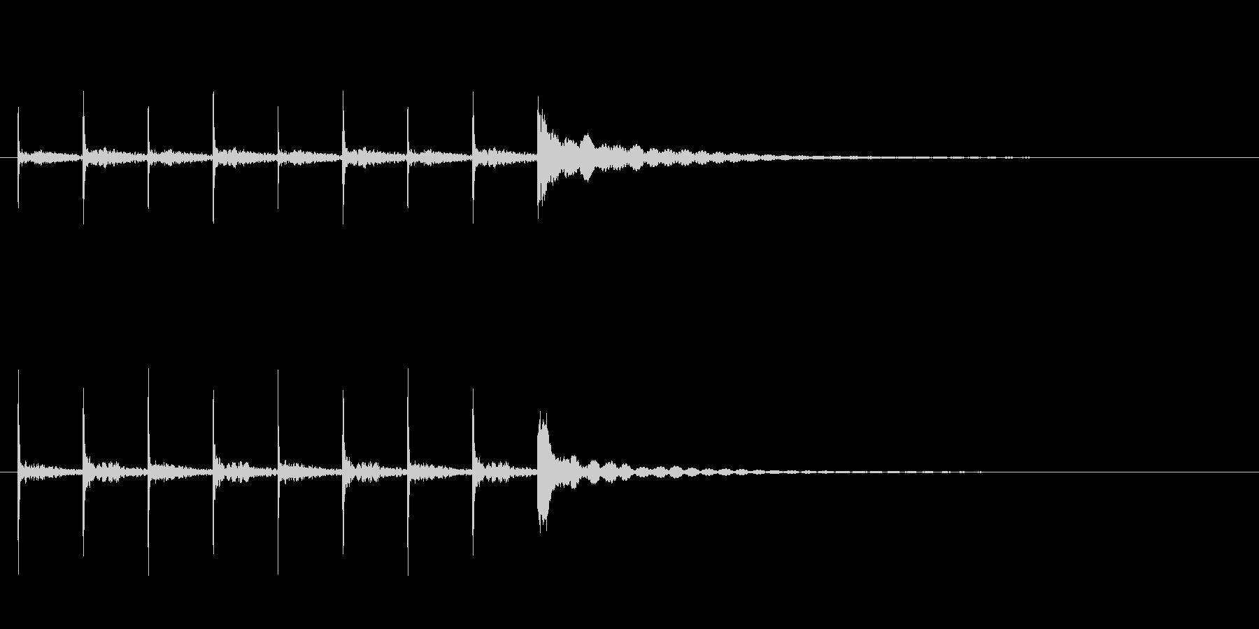 木魚ポクポクチーン約5秒シンキングタイムの未再生の波形