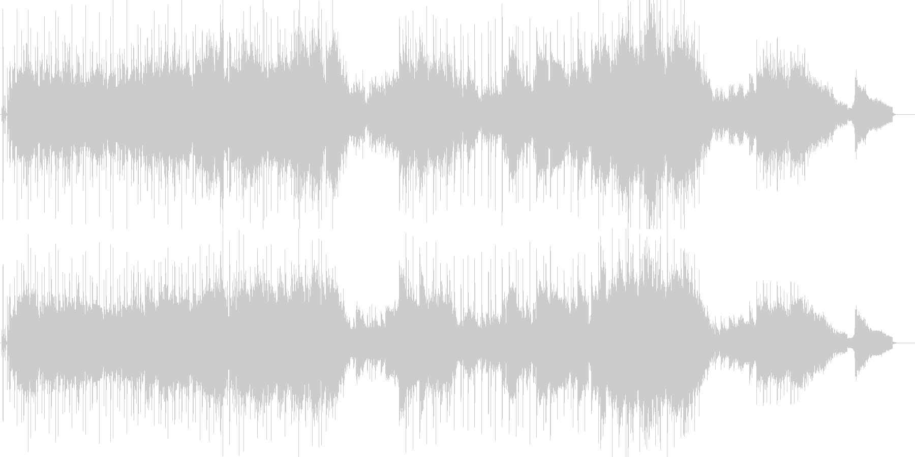 情熱的・お洒落・欧風・6/8拍子の未再生の波形