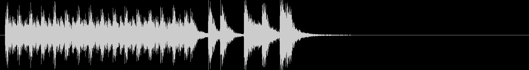和楽器によるハイテンションな和風ポップの未再生の波形